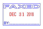 40310 - Classix #40310 Faxed Self-Inking Message Date Stamp (Metal Frame)