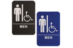 "ADA101_201 - Men ADA Compliant Sign with Wheelchair, 6"" x 9"""