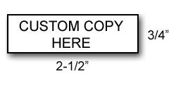 RS03 - Medium Rubber Stamp