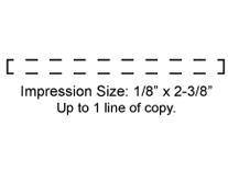 XSN05 - N05 Xstamper Pre-Inked Stamp